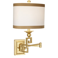 Signature 20 inch 100 watt Gold Leaf Swing Arm Wall Lamp Wall Light