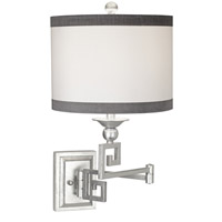 Pacific Coast Signature 1 Light Swing Arm Wall Lamp in Silver Leaf 89-5802-S5