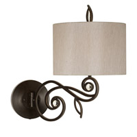 Pacific Coast Garden 1 Light Swing Arm Wall Lamp in Bronze with Gold 89-5806-20