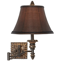 Pacific Coast Pinecone 1 Light Swing Arm Wall Lamp in Etruscan Gold 89-5823-G7