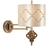Pacific Coast Golden Palace 1 Light Swing Arm Wall Lamp in Gold Wash 89-5830-76
