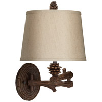 Pacific Coast Pine Lane 1 Light Swing Arm Wall Lamp in Multi-Wood Brown 89-5909-21