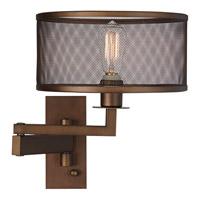 Pacific Coast Svende 1 Light Swing Arm Wall Lamp in Oil Rubbed Bronze 89-5924-20