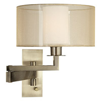 Pacific Coast Svende 1 Light Swing Arm Wall Lamp in Antique Brass 89-5924B-02