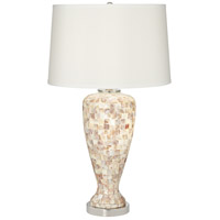 Pacific Coast 9D376 Mother Of Pearl 29 inch 100 watt Mother Of Pearl Table Lamp Portable Light with Nightlight