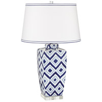 Pacific Coast 9R077 Esia 30 inch 150 watt Blue Table Lamp Portable Light