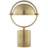 Drome 17 inch 60 watt Brushed Antique Brass Table Lamp Portable Light