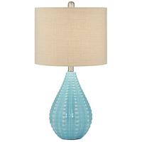 Pacific Coast 9T780 Robin 26 inch 100 watt Med Blue-Ocean Table Lamp Portable Light