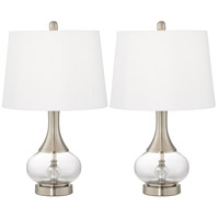 Pacific Coast 9T781 Wynn 23 inch 100 watt Brushed Nickel and Brushed Steel Table Lamp Portable Light Set of 2