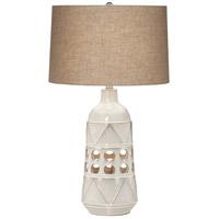 Pacific Coast 9W425 Kiowa 28 inch 150 watt Beige Almond Table Lamp Portable Light with Nightlight