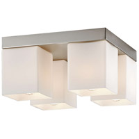 Vancouver Island 4 Light 11 inch Satin Nickel Flush Mount Ceiling Light