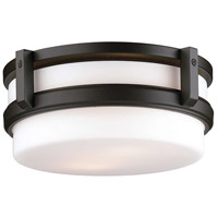 27th Street 2 Light 12 inch Wrought Iron Flush Mount Ceiling Light