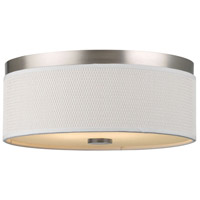 Cassandra 2 Light 15 inch Satin Nickel Flush Mount Ceiling Light