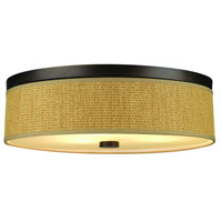 Cassandra 3 Light 21 inch Sorrel Bronze Flush Mount Ceiling Light