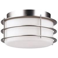 Hollywood Hills 2 Light 10 inch Metallic Silver Flush Mount Ceiling Light
