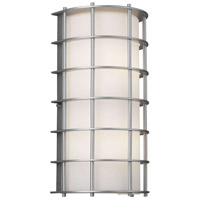 Hollywood Hills 1 Light 16 inch Vista Silver Outdoor Wall Lantern