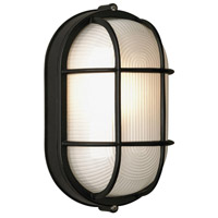 Oceanview 1 Light 8 inch Black Outdoor Wall Lantern