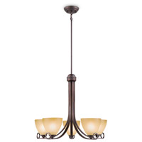 Maurice 5 Light 26 inch Oiled Bronze Chandelier Ceiling Light