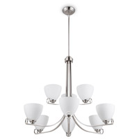 Maurice 9 Light 32 inch Brushed Nickel Chandelier Ceiling Light
