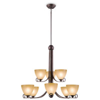 Maurice 9 Light 32 inch Oiled Bronze Chandelier Ceiling Light