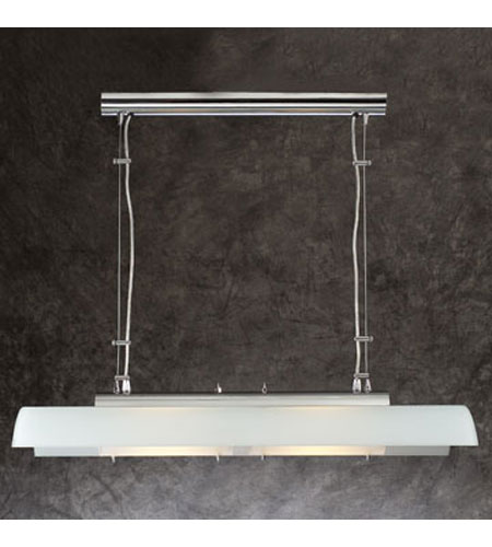 PLC Lighting Titanic Pendant in Polished Chrome with Acid Frost Glass 1048-PC photo