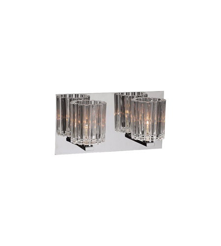 PLC Lighting 1062-PC Felicia 2 Light 13 inch Polished Chrome Vanity Light Wall Light photo