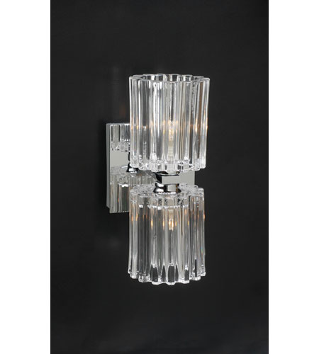 PLC Lighting Felicia Sconce in Polished Chrome with Clear Glass 1066-PC photo