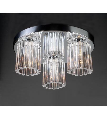 PLC Lighting Felicia 3 Light Flush Mount in Polished Chrome 1068-PC photo