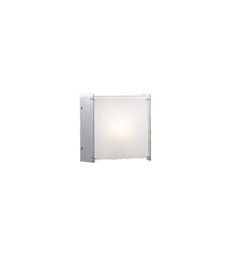 PLC Lighting Aeon Sconce in Aluminum with Opal Glass 1171-AL photo