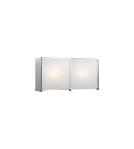 PLC Lighting Aeon 2 Light Vanity Light in Aluminum 1172-AL photo
