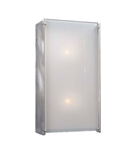 PLC Lighting Aeon 2 Light Wall Sconce in Aluminum 1176-AL photo