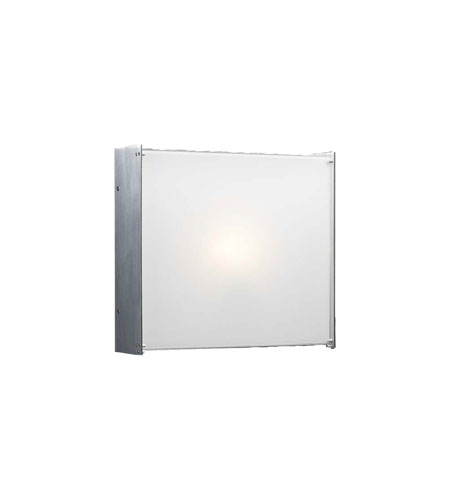 PLC Lighting Aeon 2 Light Wall Sconce in Aluminum 1177-AL photo