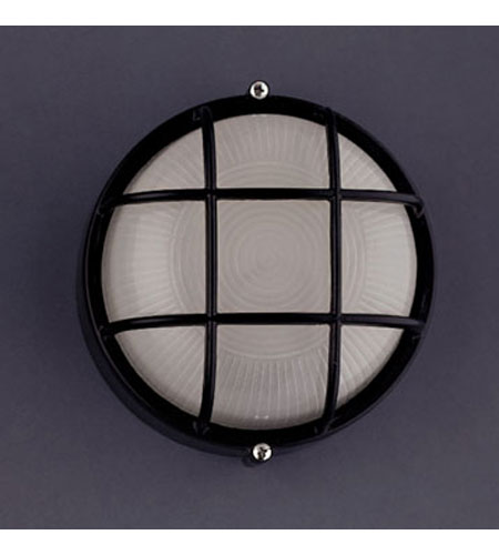 PLC Lighting Marine 1 Light Outdoor Wall Sconce in Black 1221-BK photo
