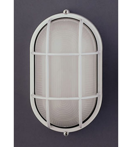 PLC Lighting 1252-WH Marine 1 Light 12 inch White Outdoor Wall Sconce in Incandescent  photo