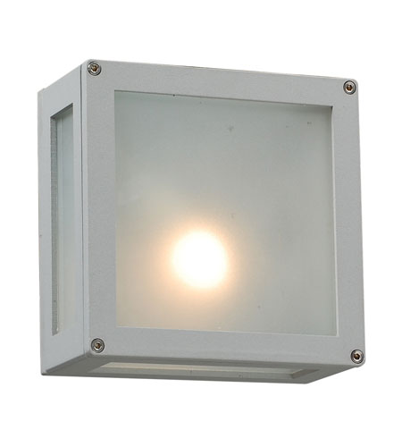 PLC Lighting Bandero 1 Light Outdoor Wall Sconce in Silver 1309-SL photo
