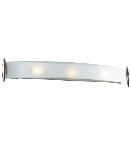 PLC Lighting 1343-SN Scroll 3 Light 37 inch Satin Nickel Vanity Light Wall Light photo
