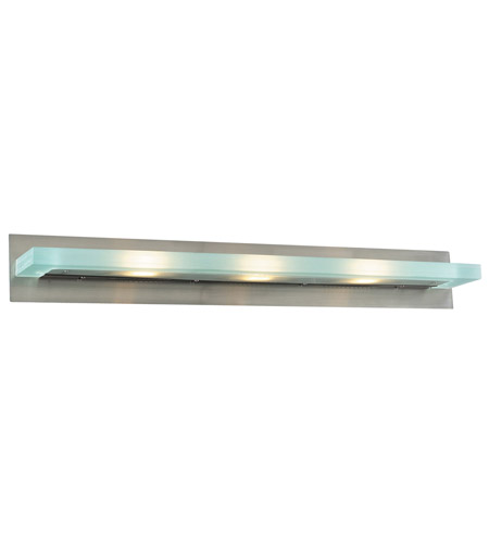 PLC Lighting 1440-SN Slim 3 Light 36 inch Satin Nickel Vanity Light Wall Light photo