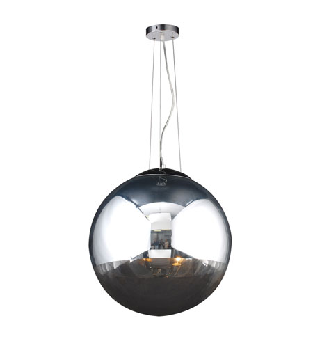 PLC Lighting Mercury 2 Light Pendant in Polished Chrome 14857-PC photo