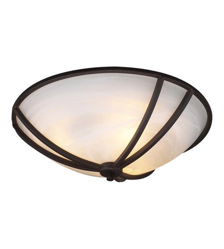 PLC Lighting 14864-ORB Highland 3 Light 21 inch Oil Rubbed Bronze Flush Mount Ceiling Light photo