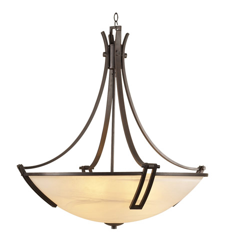 PLC Lighting Highland 6 Light Chandelier in Oil Rubbed Bronze 14869-ORB photo