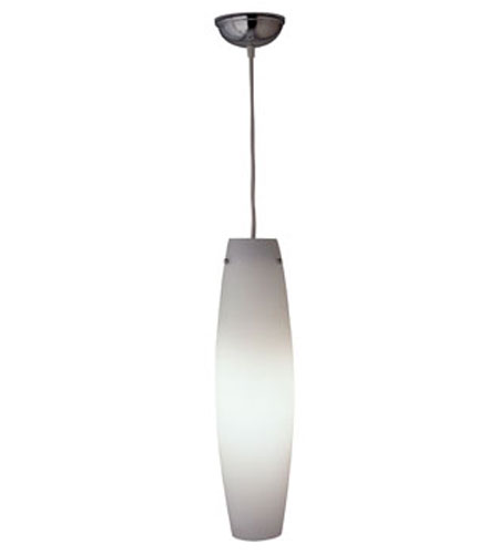 PLC Lighting Volcano 1 Light Mini Pendant in White and Frost Glass 1502-FR/WH photo