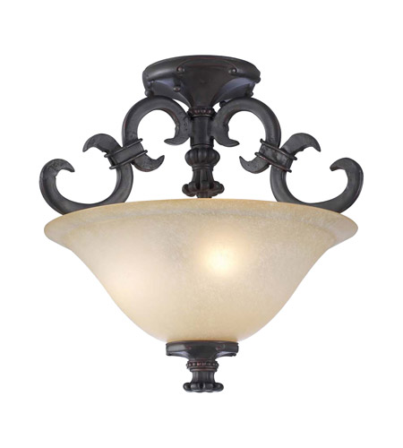 PLC Lighting 15250-ORB Lexington 3 Light 18 inch Oil Rubbed Bronze Flush Mount Ceiling Light photo