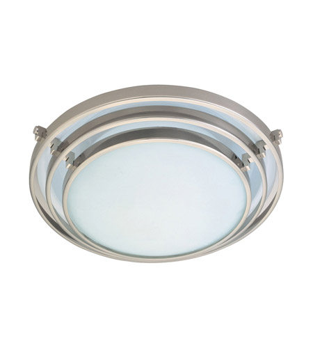 PLC Lighting 1616-SN Cascade 1 Light 16 inch Satin Nickel Flush Mount Ceiling Light photo