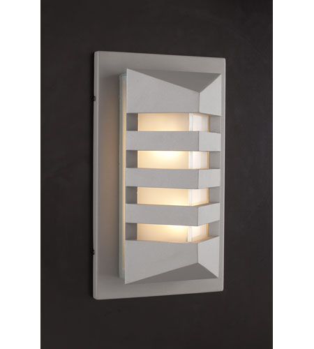 PLC Lighting 16611-SL De Majo 1 Light 16 inch Silver Outdoor Wall Sconce photo