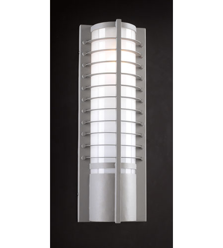 PLC Lighting Terrace 2 Light Outdoor Wall Sconce in Silver 16652-SL photo