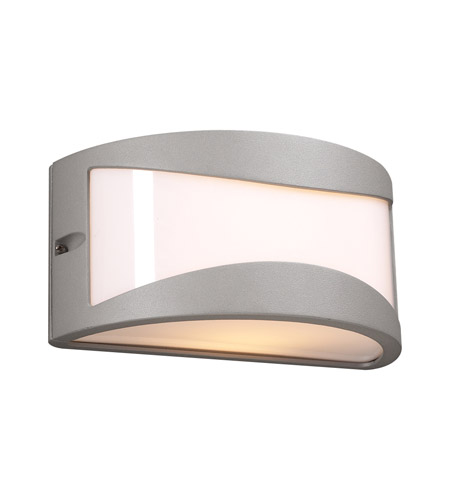 PLC Lighting 1727-SL Baco 1 Light 5 inch Silver Outdoor Wall Sconce photo
