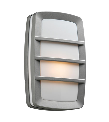 PLC Lighting Aston 1 Light Outdoor Wall Sconce in Silver 1734-SL photo
