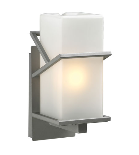 PLC Lighting Oxford 1 Light Outdoor Wall Sconce in Silver 1747-SL photo