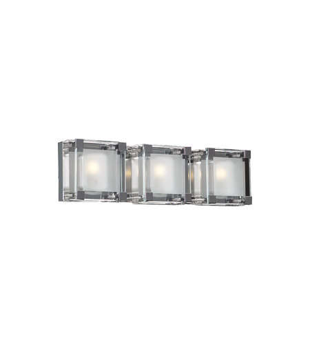 PLC Lighting Corteo 3 Light Vanity Light in Polished Chrome 18143-PC photo