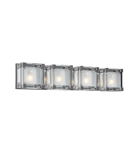 PLC Lighting 18144-PC Corteo 4 Light 27 inch Polished Chrome Vanity Light Wall Light photo